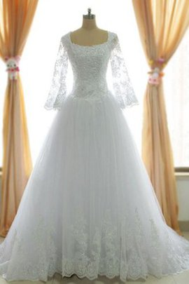 Long Sleeves Tea Length Lace Off The Shoulder Wedding Dress