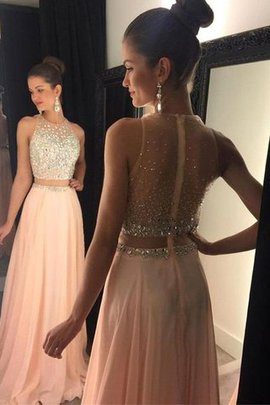 Natural Waist Sleeveless Zipper Up A-Line Beading Evening Dress