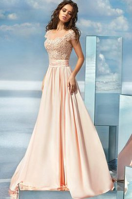 Satin Vintage Scoop Appliques Romantic Evening Dress
