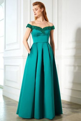 Natural Waist Zipper Up Floor Length A-Line Prom Dress