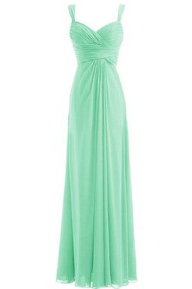Sleeveless Zipper Up Empire Waist A-Line Chiffon Bridesmaid Dress