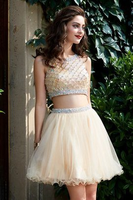 Scoop Natural Waist Short A-Line Homecoming Dress