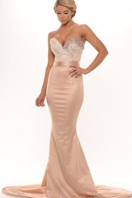 Sweetheart Beading Floor Length Backless Appliques Evening Dress