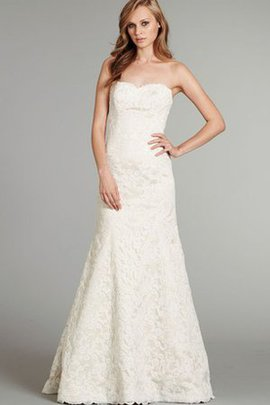 A-Line Natural Waist Floor Length Lace Fabric Vintage Wedding Dress