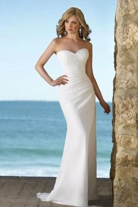 Sleeveless Long Sexy Floor Length Court Train Wedding Dress