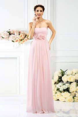 Zipper Up Empire Waist Floor Length Princess Long Bridesmaid Dress