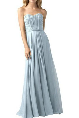 Floor Length A-Line Ruched Long Pleated Bridesmaid Dress