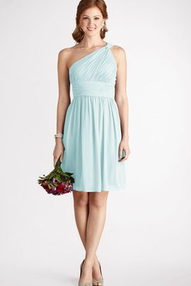 Strapless Chiffon A-Line One Shoulder Short Bridesmaid Dress