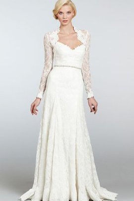Pleated Vintage Long Beading Sweep Train Wedding Dress