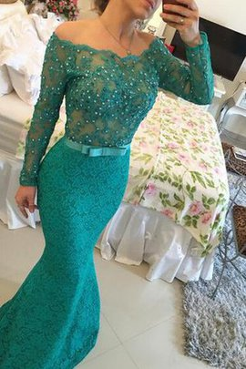 Lace Long Sleeves Chic & Modern Off The Shoulder Evening Dress
