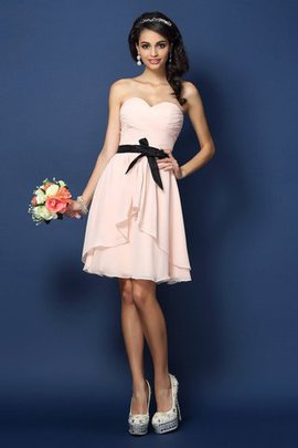 Sashes Sweetheart A-Line Short Sleeveless Bridesmaid Dress