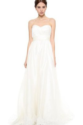 Satin Backless Sweetheart Empire Simple Wedding Dress