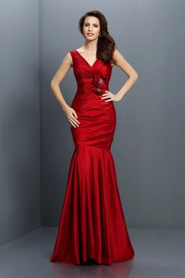 V-Neck Empire Waist Sleeveless Long Mermaid Bridesmaid Dress
