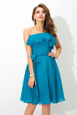 Sleeveless Sashes Silk Like Satin A-Line Bridesmaid Dress