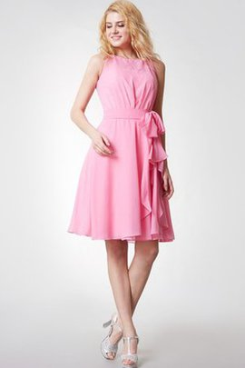 Elegant & Luxurious Knee Length A-Line Chiffon Bridesmaid Dress