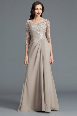 Appliques Chiffon Sleeveless A-Line Mother Of The Bride Dress