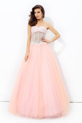 A-Line Sweetheart Natural Waist Floor Length Sleeveless Evening Dress