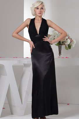 Ruched Halter Pretty Ankle Length Evening Dress