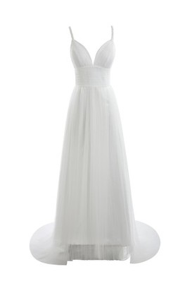 Elastic Satin Sleeveless Multi Layer Tulle Wedding Dress