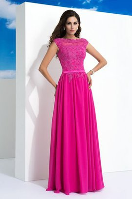 Sleeveless Natural Waist Floor Length A-Line Evening Dress