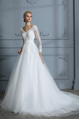 Church Pleated Long Sleeves Beautiful Chic & Modern Elegant & Luxurious Wedding Dress