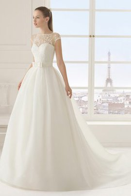 Short Sleeves Floor Length Lace Modest Wedding Dress