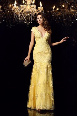 Mermaid Sleeveless Zipper Up Lace Long Evening Dress