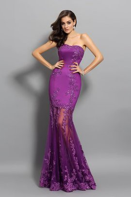 Sleeveless Mermaid Floor Length Chiffon Beading Prom Dress