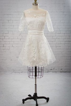 Rectangle Informal & Casual Half Sleeves Bateau Embroidery Wedding Dress