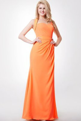 Simple Criss-Cross Sleeveless Chiffon Floor Length Bridesmaid Dress