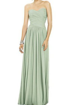 Sweetheart A-Line Zipper Up Floor Length Ruched Bridesmaid Dress