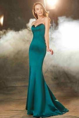 Natural Waist Sleeveless Zipper Up Sweetheart Mermaid Prom Dress