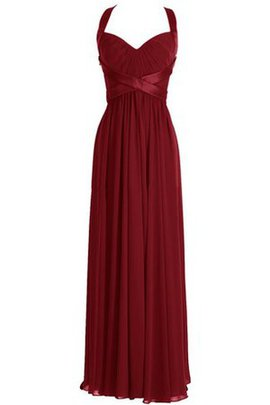 A-Line Simple Ruched Queen Anne Pleated Bridesmaid Dress