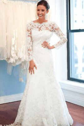 Sexy Lace Fabric Elegant & Luxurious Modest Draped Wedding Dress