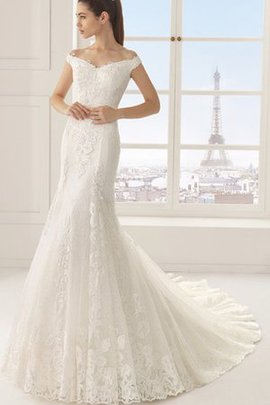 Lace Short Sleeves Capped Sleeves Simple Wedding Dress