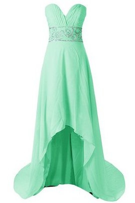 Sweetheart Sleeveless Chiffon Floor Length Sequined Bridesmaid Dress