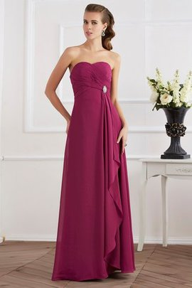 Empire Waist Sleeveless Long Chiffon Zipper Up Evening Dress