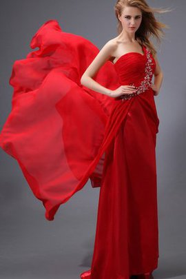 Spaghetti Straps Beading Ruched Floor Length Chiffon Evening Dress