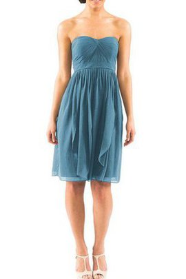 A-Line Knee Length Ruched Chiffon Bridesmaid Dress