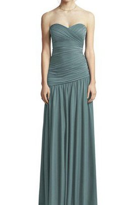 Floor Length Chiffon Zipper Up Ruched A-Line Bridesmaid Dress