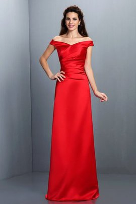 Floor Length Sheath Off The Shoulder Zipper Up Long Bridesmaid Dress