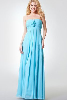 Strapless Backless Floor Length Pleated Bridesmaid Dress