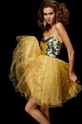 Empire Waist Zipper Up Sequined A-Line Short Homecoming Dress