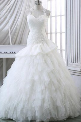 Lace-up Sweetheart Sleeveless Long Lace Wedding Dress