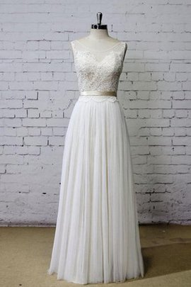 Vintage Deep V-Neck Appliques Sashes Scoop Wedding Dress