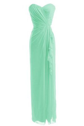 Ruched Zipper Up Sheath Floor Length Sweetheart Bridesmaid Dress
