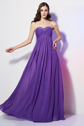 Long Floor Length Sleeveless Chiffon Beading Evening Dress