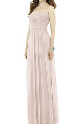 Chiffon Criss-Cross Ruched A-Line Floor Length Bridesmaid Dress