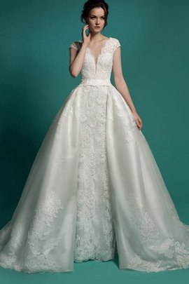 Button Detachable Tra Mermaid Lace Fabric Wedding Dress