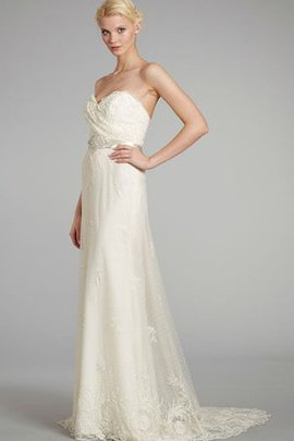 Beach Lace Fabric Backless Embroidery Wedding Dress